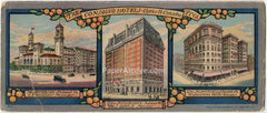 Consolvo Hotels vintage original advertising ink blotter Charles H. Consolvo The Jefferson Richmond VA The Monticello Norfolk The Belvedere Baltimore