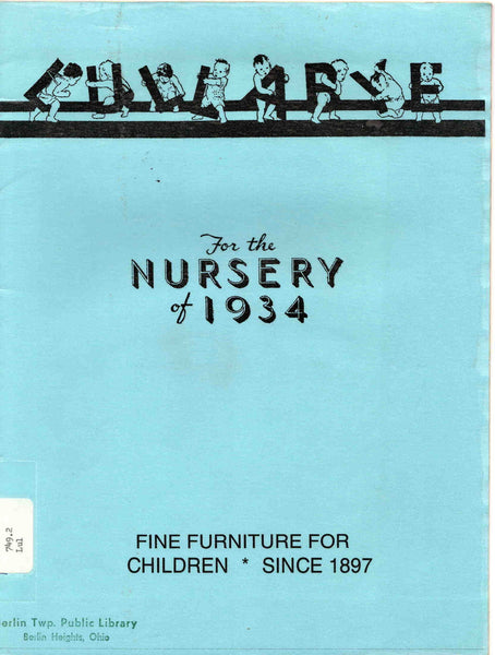Lullabye Furniture Corp. Catalog 1934 nursery children baby Stevens Point WI
