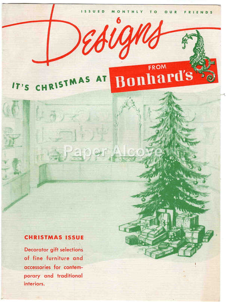 Bonhard's Art Furniture Co. Department Store 1950s vintage original Christmas sales circular brochure Euclid Avenue Cleveland Ohio