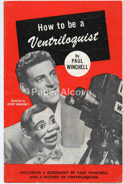 How to be a Ventriloquist 1950s vintage original pamphlet Paul Winchell Jerry Mahoney ventriloquism Juro Novelty Celebrity Dolls