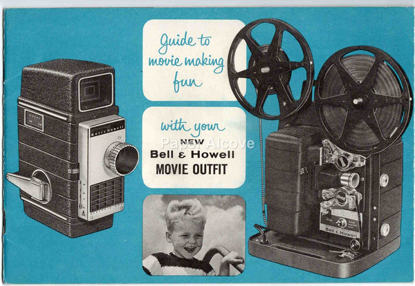 Bell & Howell Electric Eye Movie Camera and Autoload Projector Model 256 1960s vintage original Guide to Movie Making Fun manual