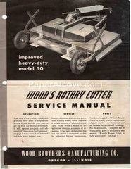 Wood's Rotary Cutter Heavy-Duty Model 50 original vintage Service Manual Wood Brothers Oregon IL mower