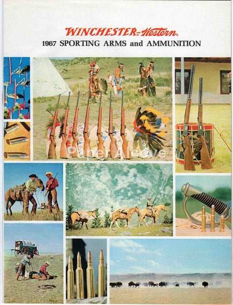 Winchester-Western 1967 Sporting Arms and Ammunition vintage original catalog New Haven CT cowboys Native Americans Indians