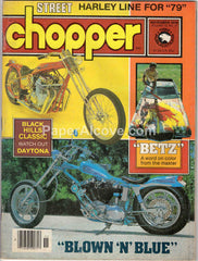 Street Chopper November 1978 old vintage magazine custom motorcycles