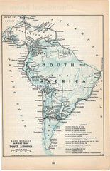 Airway Map of South America 1930 map Rand McNally