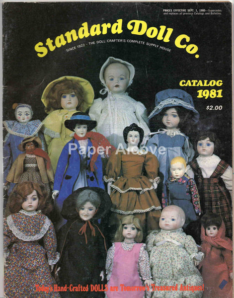 Standard Doll Co. 1981 vintage original Catalog New York doll crafter supplies