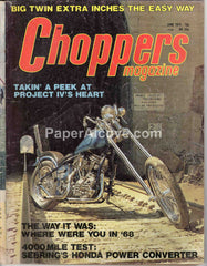 Choppers Magazine June 1974 old vintage magazine custom motorcycles