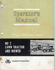 Massey-Ferguson MF7 Lawn Tractor and Mower 1967 vintage original old Operator's Manual