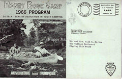 Honey Rock Camp 1966 vintage Postal Cover commercial advertising summer camp Wheaton College IL Christian Elyria OH brochure