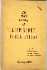 Lippincott Medical Publications Spring 1945 vintage original catalog medical dental nursing book publisher Philadelphia PA