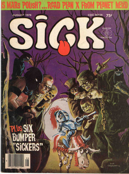 Sick August 1978 Vol. 18 No. 122 original vintage magazine monster cover cartoons comic