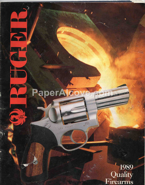 Ruger 1989 Quality Firearms vintage original old catalog revolvers rifles shotguns hunting