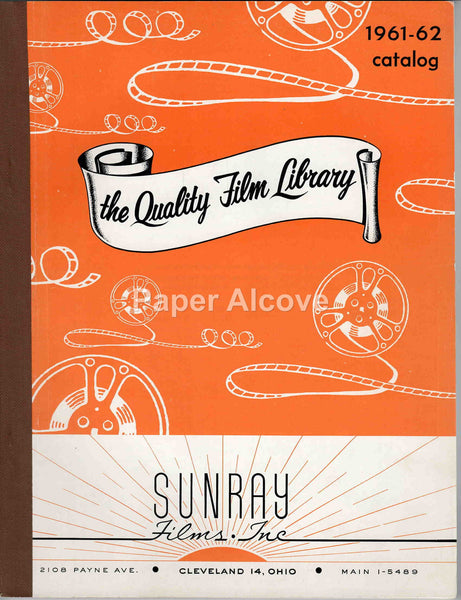 Sunray Films Inc. 1961 vintage original exhibitor film movie industry trade catalog Cleveland OH non-theatrical