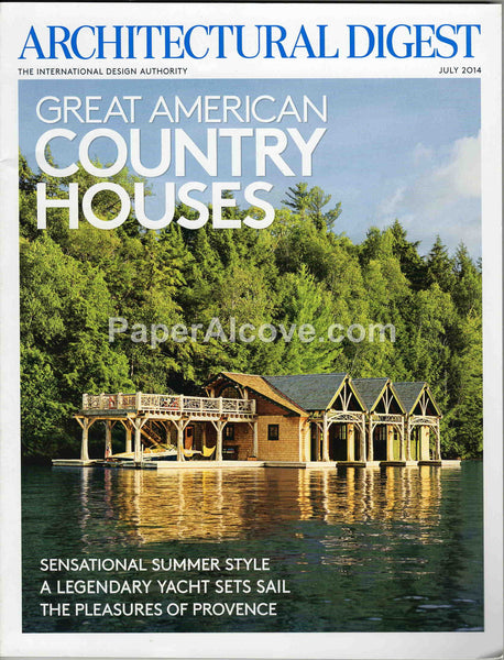 Architectural Digest July 2014 magazine Great American Country Houses