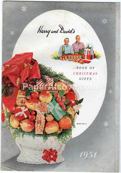 Harry and David's Book of Christmas Gifts 1951 vintage original old catalog fruit baskets Bear Creek Orchards Medford OR