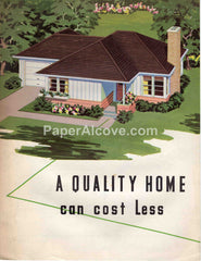 A Quality Home Can Cost Less 1949 vintage booklet West Coast Lumbermen's Association Portland OR