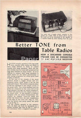 Better Tone from Table Radios 1944 old magazine article