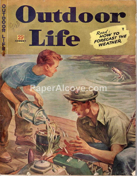 Outdoor Life August 1945 old vintage magazine hunting fishing