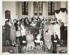 Church of Christ Detroit MI women 1961 vintage original 8x10 photograph African American Church of God in Christ Black Americana