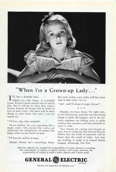 General Electric When I'm a Grown-up Lady 1942 ad #237