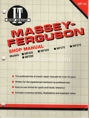 Massey-Ferguson I&T Shop Manual MF-43 undated original vintage MF255 MF265 MF270 MF275 MF290 tractors
