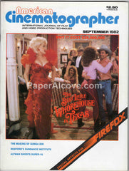 American Cinematographer September 1982 original vintage Hollywood Movie magazine Dolly Parton cover