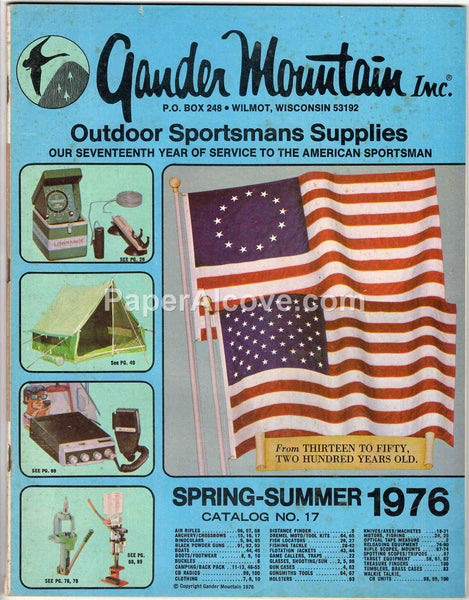Gander Mountain Spring-Summer 1976 vintage original old catalog no. 17 hunting fishing outdoor sportsmans supplies