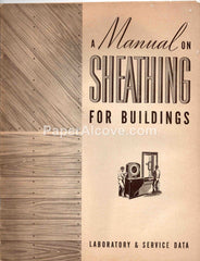 A Manual on Sheathing for Buildings 1941 vintage booklet National Lumber Manufacturers Association Washington DC home construction