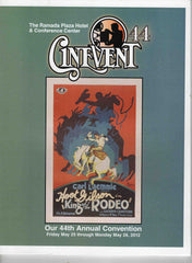 Cinevent Classic Films #44 Annual 2012 Convention Program Cleveland OH