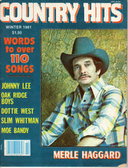 Country Hits Winter 1981 music magazine Merle Haggard