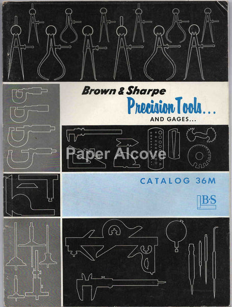 Brown & Sharpe Mfg. 1957 vintage original machinist tool gages Catalog 36M Providence RI