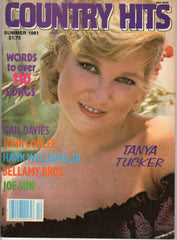 Country Hits Summer 1981 music magazine Tanya Tucker