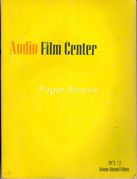 Audio Film Center 1971 vintage original exhibitor film movie industry trade catalog non-theatrical