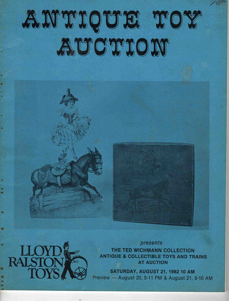 Antique Toy Auction Lloyd Ralston Toys vintage 1982 Catalog