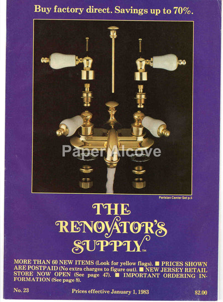 The Renovator's Supply 1983 vintage original Catalog No. 23 home restoration supply ideas Millers Falls MA
