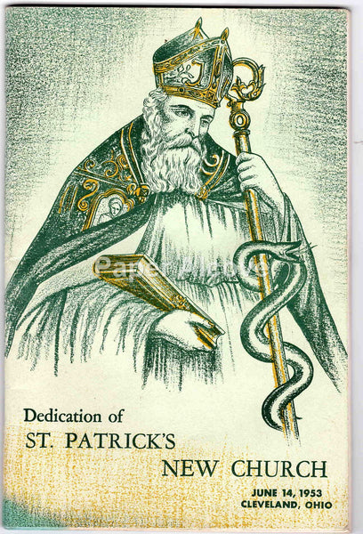 Dedication of St. Patrick's New Church 1953 vintage old booklet Catholic Cleveland Ohio