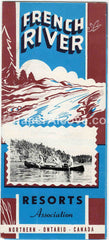 French River Resorts Ontario Canada 1950s-60s vintage original old travel brochure camping fishing