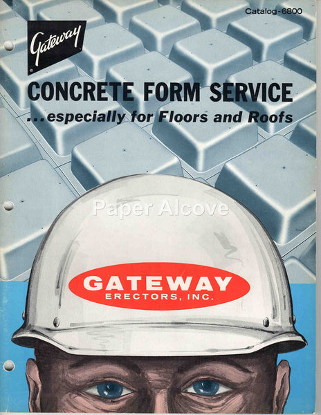 Gateway Erectors Concrete Form Service 1968 vintage original trade Catalog-6800 floor roof construction Chicago IL