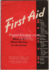 Metropolitan Life Insurance First Aid 1952 Booklet