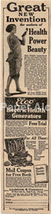 Elco Electric Health Generator 1925 quack medicine Lindstrom & Co. vintage original paper advertising Chicago IL