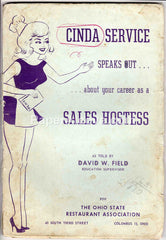 Ohio State Restaurant Association Cinda Service Sales Hostess 1960s booklet
