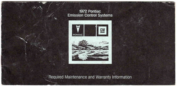 1972 Pontiac Emission Control Systems Required Maintenance Manual