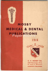 C.V. Mosby Medical & Dental Publications 1946 vintage original book catalog scientific publisher St. Louis MO