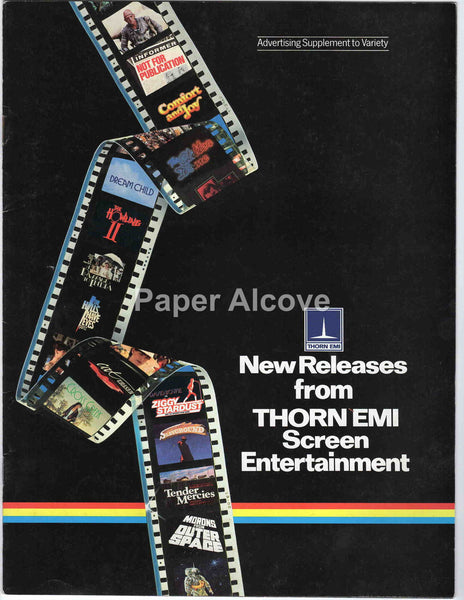 Thorn EMI Screen Entertainment New Releases 1983 vintage original trade brochure 1980s slasher horror movies Variety supplement
