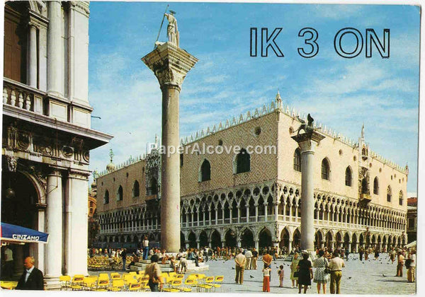 Italy vintage 1977 QSL card IK3ON to W5JME old shortwave radio Palazzo Ducale Padova Venice