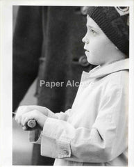 "Boy with Kite photograph c. 1960s vintage original old 8"" x10"" artistic photo"