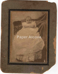 Baby Myrtle Heileman 1902 mounted portrait photograph Ohio old photo