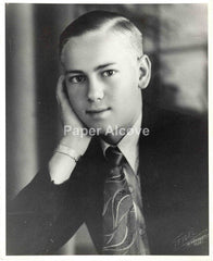 "Well-Dressed Blonde Young Man vintage original old c. 1940s-1950s 8"" x 10"" photograph Seidel Studio New Braunfels TX"