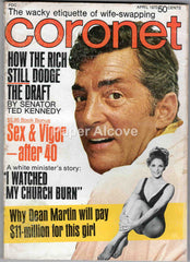 Coronet April 1970 old original vintage magazine Dean Martin cover wife swapping Ted Kennedy