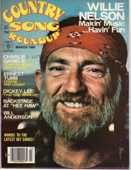 Country Song Roundup March 1980 music magazine Willie Nelson